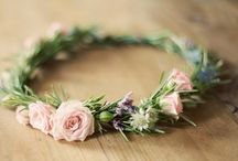 Flower wreaths / I'd rather have flowers in my hair than diamonds around my neck