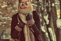 Winter. / Latte. Cozy. Snow.