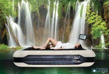 Dream Water Lounge / A unique dry water massage experience. Remain fully clothed whilst lying on a warm water bed and have the water jets massage your aches and pains away. We highly recommend this treatment x