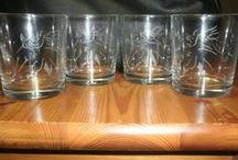 gravírozások / poharak, vázák, üvegek gravírozását vállalom