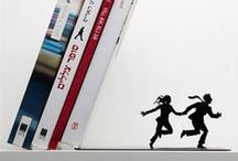 BOOKENDS... embracing words / Bookends to help you keep your books together...