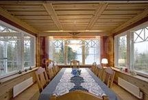 Comedores / comedores en casas de madera Kuusamo Log Houses. Los mejores momentos en el hogar transcurren en torno a una mesa