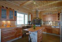Cocinas / cocinas #casas de #madera Kuusamo Log Houses