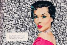 Vintage Illustrated Ladies