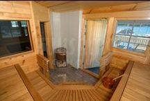 Saunas / saunas en casas de madera finlandesa Kuusamo Log Houses. El mejor lugar del hogar para relajarse y decir adiós al estrés