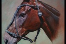 Horse portraits. / Drawings and paintings of horses