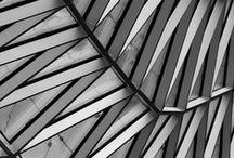 Architectural Pattens / Black and white images of modern architecture with an emphasis on repetitive patterns and shapes.