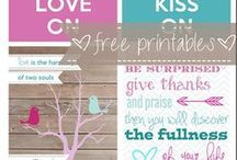 Free Printables / These free printables are perfect for organizing all areas of  your life, including meal planning and everything home related.