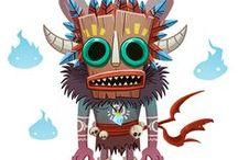 Creature Design - Sketches & Digital Painting
