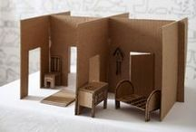 Doll House / Inspiration for not too complicated doll houses. Most are open doll houses that are playable. Smart solutions, nice ideas and some furniture.