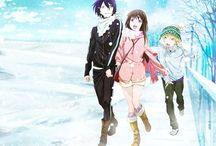 Naragami / Yato x Hiyori and Yukine = Noragami