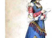 ~1154-1399 Plantagenet Ladies' Clothing