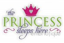 Prince and Princess Designs / Royalty Themed Embroidery Designs at Embroitique.com / by Embroitique