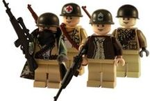 Custom WW2 Lego Figures / A range of customised WW2 Lego minifigs, these army soldiers have been created using Lego body parts and some great custom army helmets, guns and accessories.