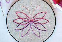 Borduren / stitching / Technieken om mooi en gestructureerd te borduren.