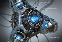 3D ( Robot & Sci-Fi & Metal ) / 메카닉, 로봇, SF등 금속으로 된 작품들