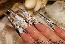 Nail inspirations - Long, extreme nails / Inspirace na dlouhé nehty a extrémní tvary. / Stiletto nails, edge nails, Russian almond, gothic almond and other. / Stilleta, edge, gothické a ruské mandle a další.
