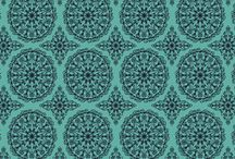 Aqua, Lime and Magenta prints