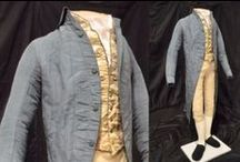 18th Century Mens Dress. / Mens fashion of early and mid 18th Century.