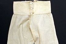 Mens Underwear 18th to 19th Century. / Primarely examples of mens underwear relevant for the period 1790—1815, but also including other interesting items from the period 1700—1880 (approx.).