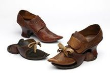 Shoes &c. 13th to 19th Century. / All kind of SHOES and FOOTWEAR for MEN and WOMEN, including socks and stockings, relevant for the periode (approx.) 1500—1850.