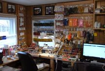 Fly fishing Tying room