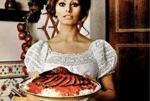 Vintage cookbooks / Vintage cookbook gems curated by American in Paris watercolor illustrator and food stylist Jessie Kanelos Weiner. Vintage food photography, 1960s, 1970s food, Sophia Loren cookbook, celebrity cookbooks, vintage food, vintage food styling