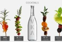 Vodka organic drinks / Vodka cocktails, longdinks and smothies made from organic ingredients