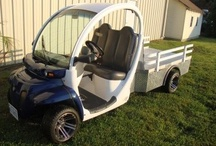 Gem Car Golf Cart / 2002 Gem Car Street Legal Low Speed Vehicle. New Batteries, New Charger, New Paint, Stereo System,