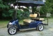 2009 Ez Go Golf Cart Low Rider / Ez Go PDS low rider, dropped front axle, fairway alloy bullets mounted on 12 inch low profile tires.
