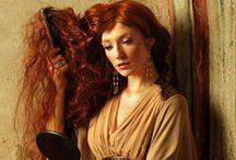 CABELO  E MAQUIAGEM / Apresento cabelos em tons vermelhos e ruivos.simplesmente lindos!