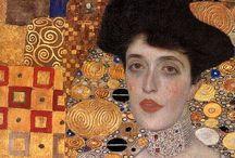 """adoro Klimt / Para mim ele foi um dos grandes pintores de sua época . E o quadro de sua autoria que mais gosto  é          a """"mulher de dourado"""""""