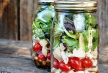 Salade in een potje / Salade in een potje
