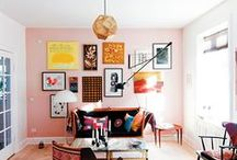 gallery walls / Walls and walls of art + photos. Gallery walls done right.
