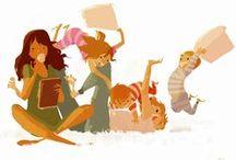 Illustrations | Family . famille | / drawing families & illustrators - dessiner des familles ou illustrateurs qui dessinent bien les familles