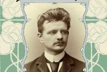 Jean Sibelius ( 1865-1957 ) / The Finnish classical music composer of the later romantic period, whose music played an important role of the Finnish national identity.