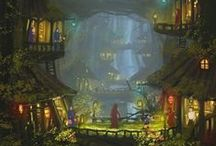 Illustration | Fanstastic worlds . Mondes fantastiques |