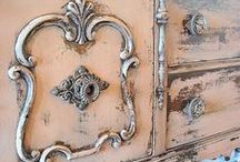 Beautiful & Old Furniture / I adore lovely old pieces of furniture to new. Mix the two together and you'll create a room with soul and character.
