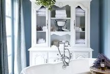 Beautiful Bathrooms with Style / A bathroom should be a place that makes you feel good and energized in the mornings and somewhere you'd like to spend time and indulge yourself in the evenings.