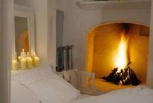 Stylish Bedrooms / I love bedrooms that ooze style and comfort with gorgeous windows for morning light and romantic fires for cold, winter evenings.