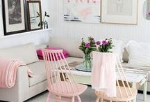 Pretty Pink Furniture & Interiors / It's nice to see pink making a come back. Just remember, a little goes a long way!