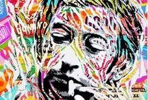 DI BONA Jo / Dès le début des années 90', Jo a fait ses armes artistiques sur murs et trains et va s'en éloigner petit-à-petit et créer ce qu'il appellera par la suite le « POP GRAFFITI », mélangeant collages, diverses influences du Graffiti, mais aussi la culture Pop dont il s'est profondément imprégné. Dans ses œuvres, Jo rend hommage aux icônes et grands personnages de l'histoire, travaille sur des portraits d'anonymes, tout en faisant des clins d'œil à d'autres artistes qui lui sont chers.