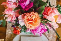 Bright Summer Wedding / Pink and orange wedding, bright wedding colors, summer wedding