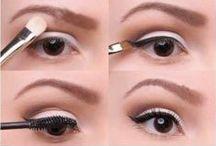 Eye Makeup / Shadow, eyeliner, mascara, eyebrows | Sombras, delineador, mascara, cejas