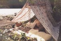 Let´s live outside / tents, nature, romantic, wild, adventure, lovely, beauty, camping, bohemian, gypsy, vintage, wild life
