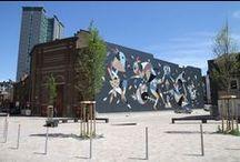 Asphalte#1 / Urban biennale in Charleroi curated by Alice van den Abeele & Raphaël Cruyt, 2014