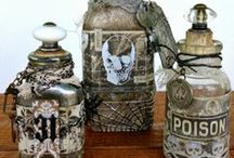 Witch Apothecary / Altered bottles, books and whatever fits in the witch's apothecary