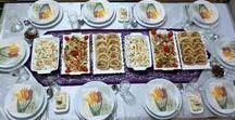 YEMEK VE İFTAR MASALARI / Akşam yemeği masaları ve iftar masaları