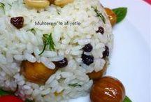 PİLAV TARİFLERİ / Pirinç, bulgur, arpa, siyez gibi bakliyatlarla, çeşitli sebzelerle  hazırlanan pilav tarifleri