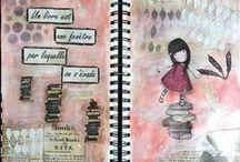 Art journal / créations de l'équipe créative de Paper and Supplies